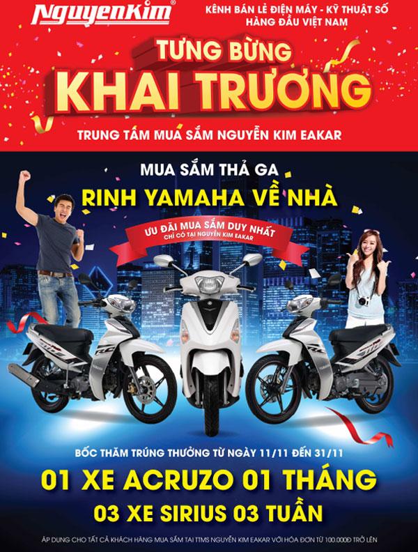 """Cơ hội lên đời """"xế xịn"""" trong tầm tay với hóa đơn mua sắm tại Nguyễn Kim Eakar chỉ từ 100.000 trở lên"""