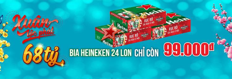 Muốn mua bia Heineken chỉ với 99.000 VND một thùng, đến ngay Nguyễn Kim!