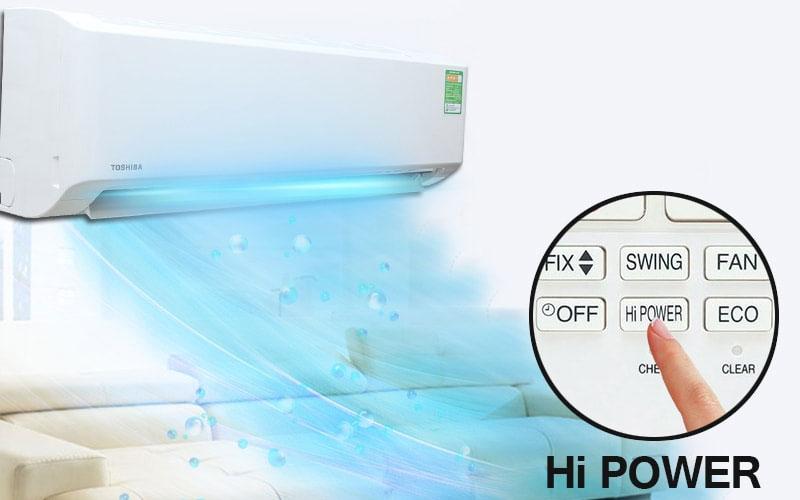 Hi Power không hoạt động ở chế độ sấy, quạt và chức năng hẹn giờ