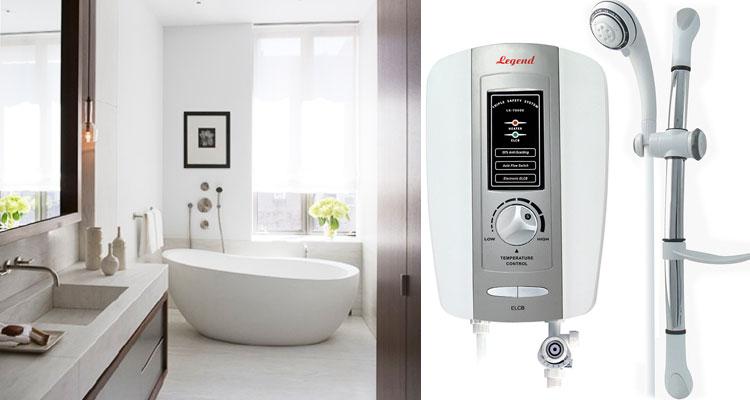 Vòi sen được tích hợp trên máy nước nóng có 5 chế độ phun, giúp người dùng chủ động chọn chế độ phù hợp nhất