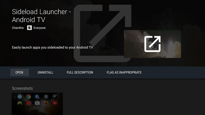 Sideload Launcher là một ứng dụng bên thứ ba, có thể tải về từ Play Store