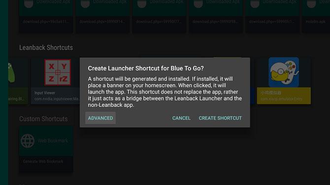 Bạn cũng có thể chọn Advanced để thiết lập một số tuỳ chọn
