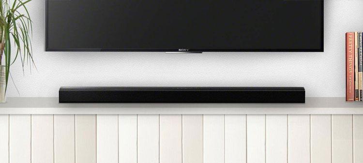 Thiết kế tinh tế và hiện đại của loa Sony HT-CT80 sẽ tạo điểm nhấn cho phòng khách nhà bạn