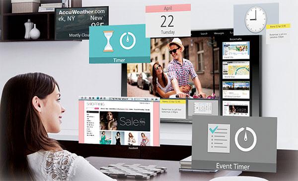 Tivi Panasonic còn được tích hợp màn hình my Home Screen mang đến nhiều tiện ích giải trí cho người sử dụng