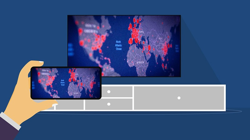 Cách kết nối điện thoại với tivi bằng Screen Mirroring