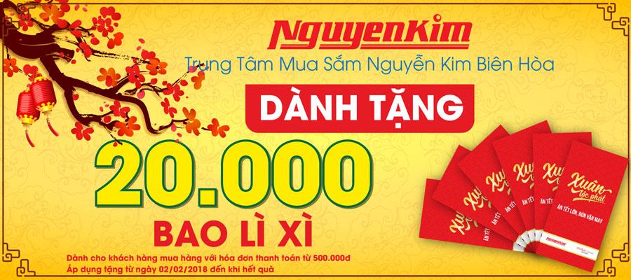 Năm mới thêm may mắn với những bao lì xì đỏ rực Nguyễn Kim dành tặng