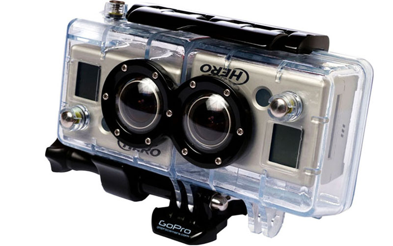Phụ kiện biến hai camera GoPro thành hệ thống quay 3D