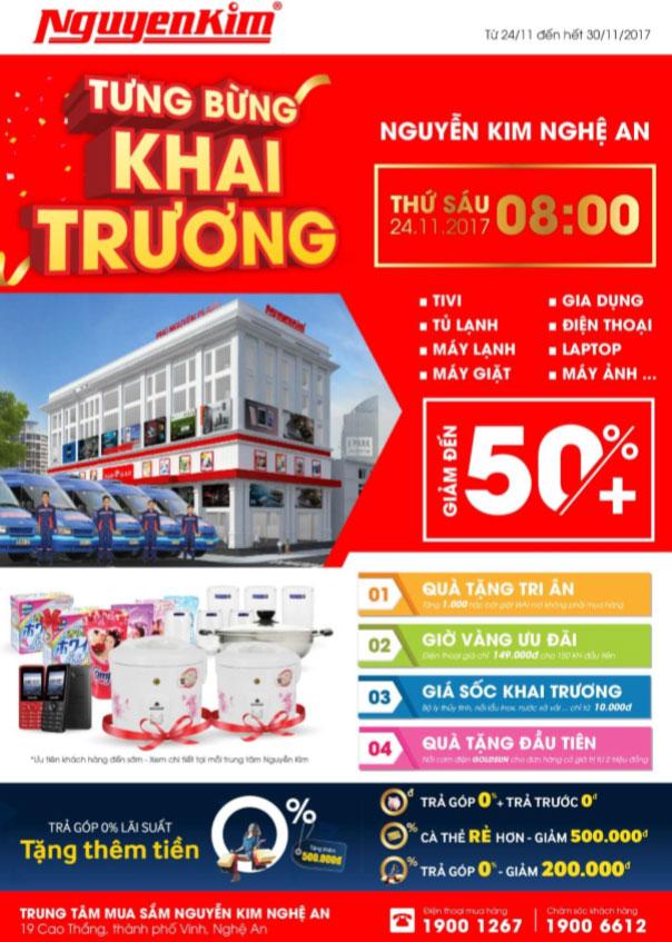 Ưu đãi cực hot dành cho quý khách hàng tại sự kiện khai trương TTMS Nguyễn Kim Nghệ An