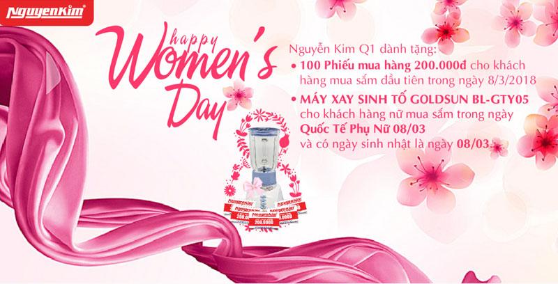 TTMS Nguyễn Kim Quận 1 mang đến nhiều quà tặng nhân ngày Quốc tế Phụ nữ để tôn vinh phái đẹp