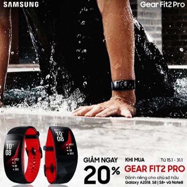 Nguyễn Kim mang đến bạn cơ hội mua Samsung Gear Fit2 Pro với mức giá hấp dẫn hơn