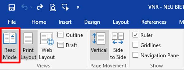 Kích hoạt chế độ Read Mode sẽ giúp bạn đọc tài liệu tốt hơn