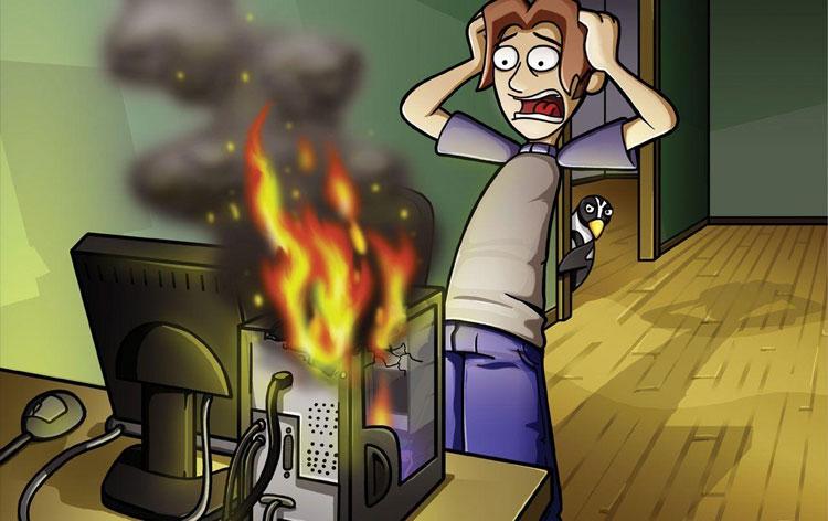Máy tính quá nóng sẽ tự restart lại