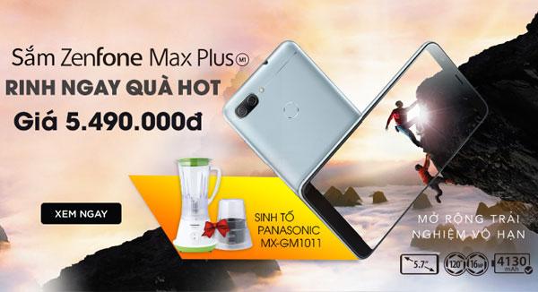 Quà tặng giá trị khi đặt trước ASUS Zenfone Max Plus M1 tại Nguyễn Kim
