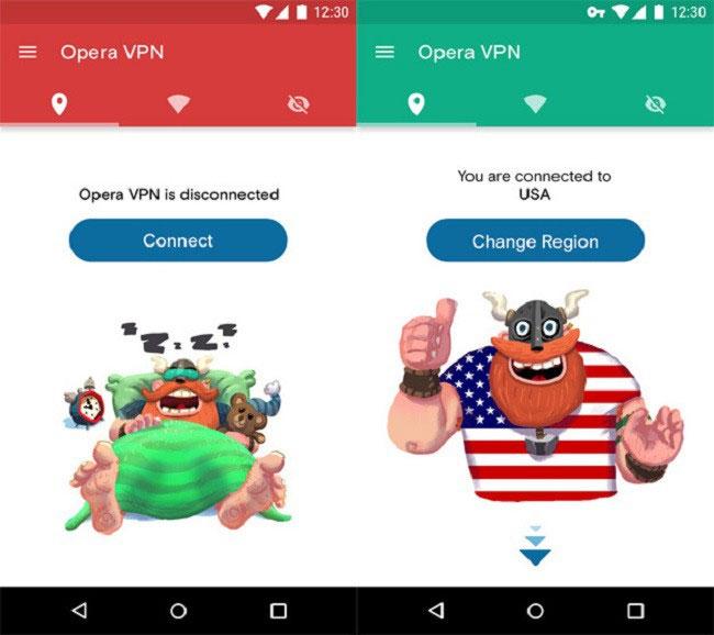 Với Opera VPN, bạn tha hồ thay đổi VPN sang các máy chủ đặt ở những quốc gia khác một cách dễ dàng.