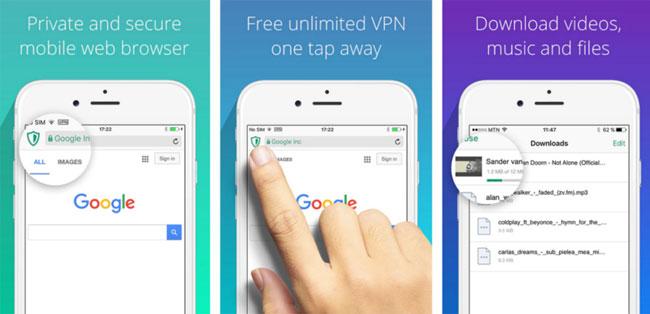 Bạn có thể sử dụng trình duyệt có tích hợp sẵn tính năng VPN như Aloha Browser (Android | iOS):
