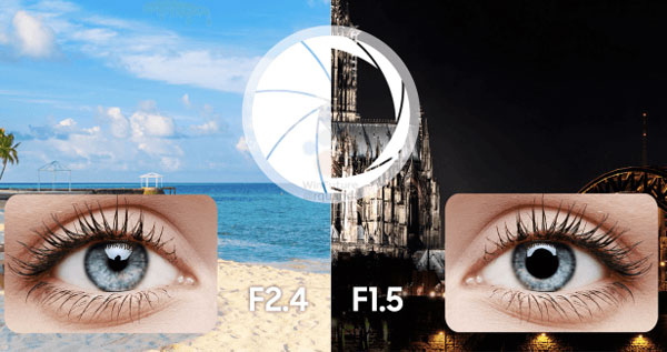 Camera được nâng cấp đột phá, được cho là có khả năng thay đổi khẩu độ như máy ảnh chuyên nghiệp, chưa kể đến việc khẩu độ có thể mở đến f/1.5 - lớn nhất làng smartphone.