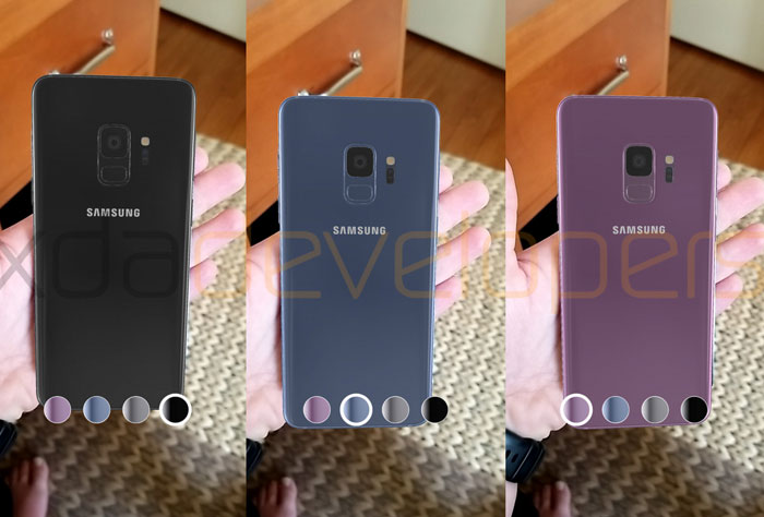 Bộ sưu tập màu sắc trên Galaxy S9/S9+ sẽ là đen, xám, xanh và tím