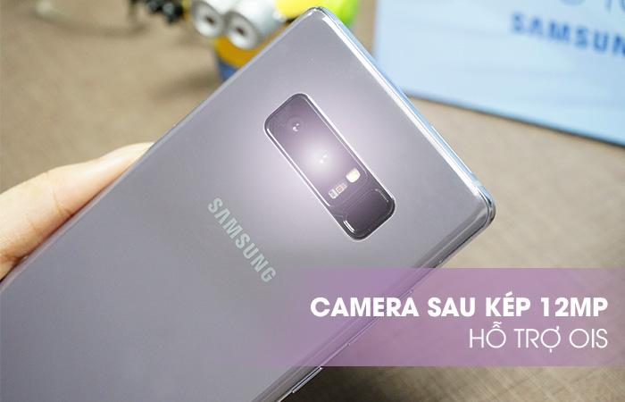 Camera sau Camera sau kép 12MP, ống kính góc rộng F1.7, ống kính tele F2,0, hỗ trợ OIS.