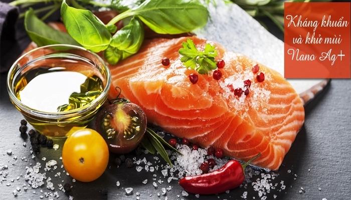 Tủ lạnh Sharp bắt khuẩn, khử mùi hiệu quả giữ cho thực phẩm tươi ngon và an toàn