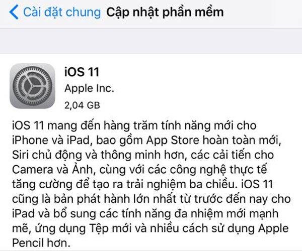 Nâng cấp lên iOS 11 và trải nghiệm ngay những điều mới mẻ nhé!