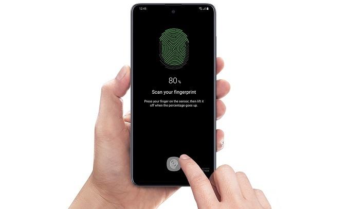 Điện thoại Samsung Galaxy A51 128GB Trắng - Công nghệ bảo mật cao cấp cực chính xác