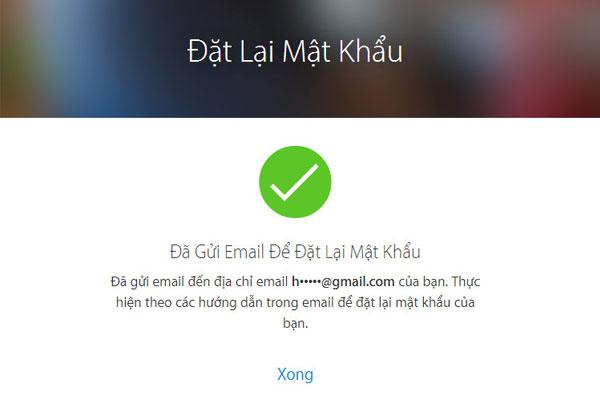 """Khi đó,một đường link đặt lại mật khẩu Apple ID sẽ được """"Táo Khuyết"""" gửi vào địa chỉ email mà bạn đã dùng để đăng ký tài khoản"""