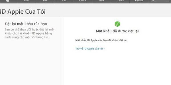 Và rồi bạn đã có mật khẩu Apple ID mới.