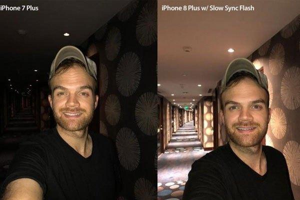 Austin Mann cũng đã so sánh 2 tấm ảnh chụp bằng flash thường vàđồng bộ chậm đèn flash trên iPhone 7 Plus và iPhone 8 Plus, kết quả sẽ cho bạn câu trả lời trực tiếp