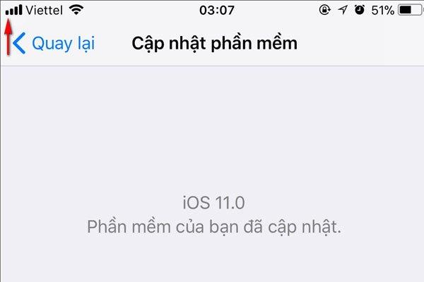 Biểu tượng cột sóng mạng di động cũng có gì đó khác lạ với iOS 11 Beta 7
