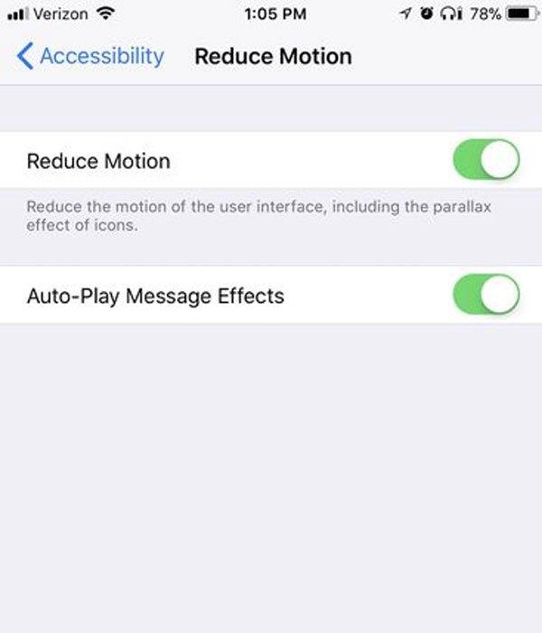 Một số hiệu ứng hình ảnh không cần thiết sẽ không đáng để điện thoại bạn tiêu hao pin đâu