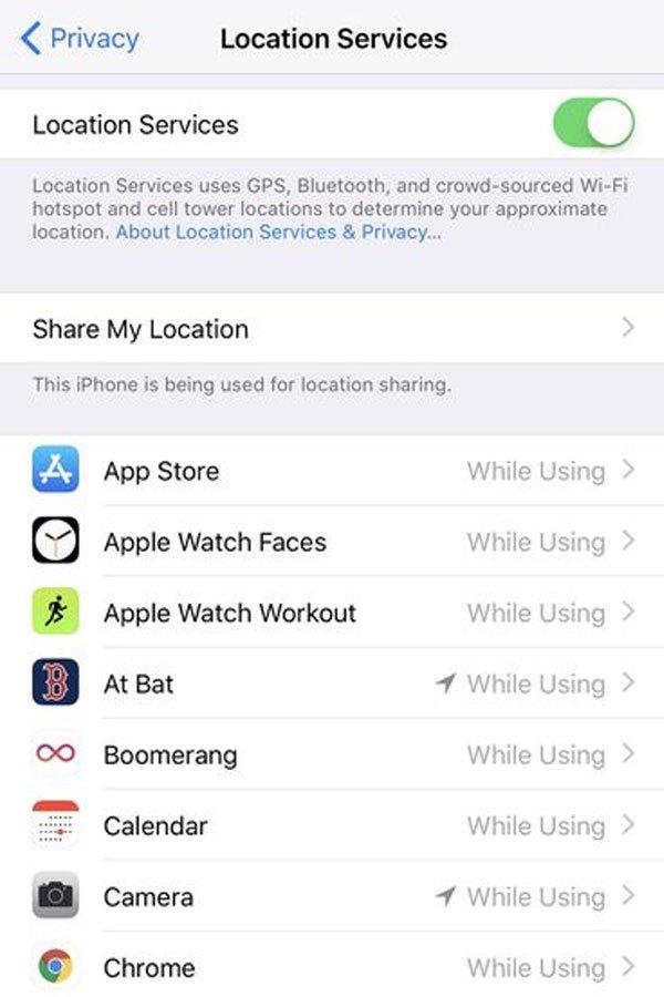 Vào Cài đặt -> Bảo mật -> Dịch vụ vị trí để chỉnh sửa những cài đặt cho những ứng dụng yêu cầu dịch vụ vị trí