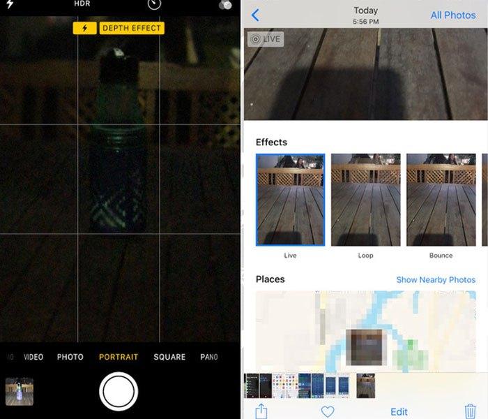Chế độ chụp ảnh tương tự như Boomerang của Instagram đã được Apple tích hợp trên iOS 11.