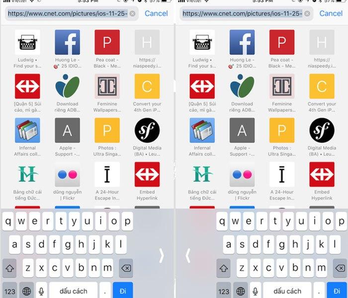 Bạn hoàn toàn có thể dễ dàng điều chỉnh bàn phím iPhone trên iOS 11 lệch về bên trái hoặc bên phải để thuận tiện hơn khi gõ ký tự bằng một tay.
