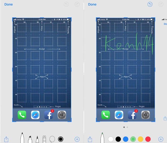 Với iOS 11, khi chọn chụp màn hình, một bức ảnh thu nhỏ sẽ xuất hiện ở cạnh dưới bên trái
