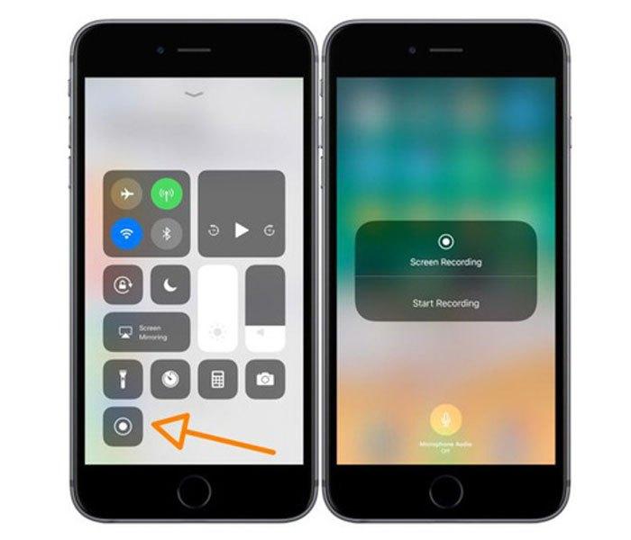 Với iOS 11, tính năng quay màn hình được trang bị ở Control Center