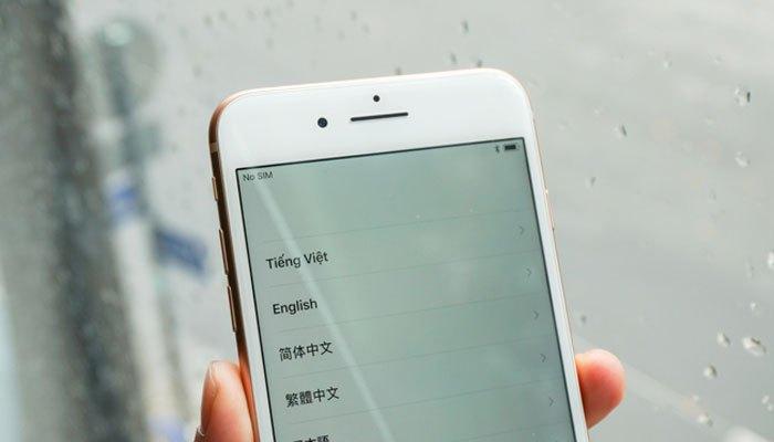 Viền màn hình iPhone 8 Plus khá dày