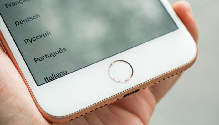 Cảm biến vân tay Touch ID vẫn còn được tích hợp trên nút Home iPhone 8 Plus.
