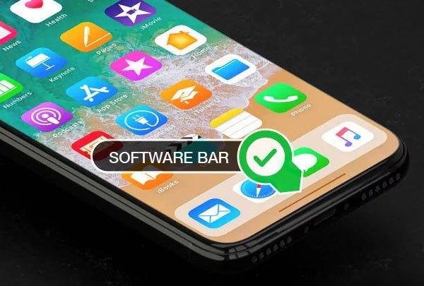 Nút Home trên điện thoại iPhone 8 sẽ được thay thế bằng thanh software bar