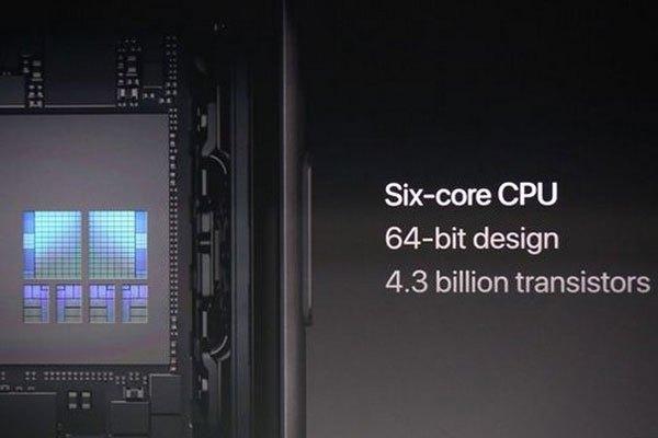 Vi xử lý A11 Bionic 6 nhân 64-bit với 4,3 tỷ bóng bán dẫn mạnh nhất của smartphone đã được trang bị cho iPhone 8 và 8 Plus