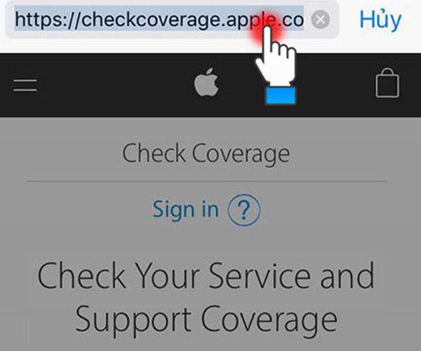 Truy cập vào trang web chính hãng của Apple để kiểm tra iPhone