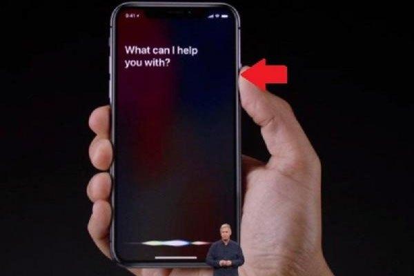 Nhấn nút nguồn iPhone X để gọi Siri nhé