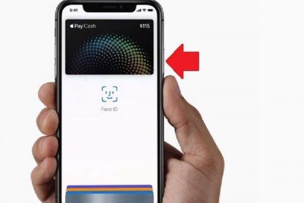Ấn đúp 2 lần nút nguồn cho việc sử dụng Apple Pay trên iPhone X