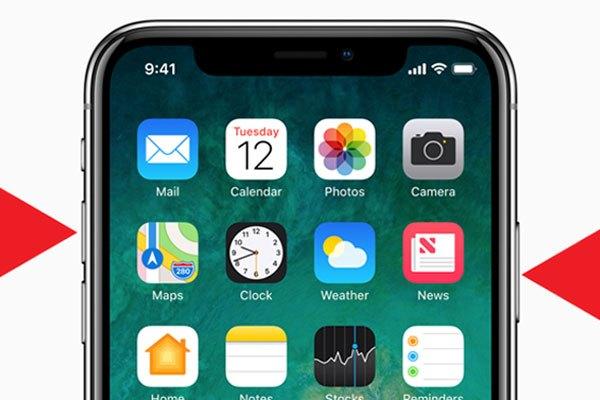 Ngược lại với khởi động nhanh, bạn giữ đồng thời nút nguồn và phím tăng âm lượng là xong. Có một điều đặc biệt là màn hình của iPhone X bị khuyết góc phía trên nên ảnh chụp sản phẩm cũng bị như vậy.