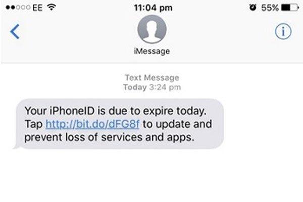 """Tin nhắn giả mạo cũng có tên""""iMessage"""" khiến nhiều người lầm lẫn, mắc bẫy mất tài khoản Apple ID"""