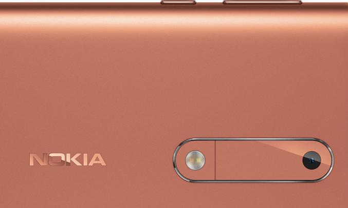 Điện thoại Nokia 5 màu đồng sử dụng hệ điều hành Android