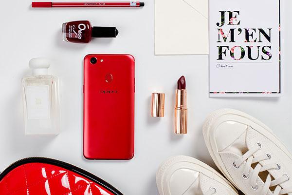 OPPO F5 6GB phiên bản đỏ không chỉ hớp hồn các cô nàng hiện đại mà cánh mày râu cũng khó lòng ngó lơ