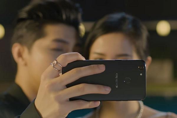 OPPO F5 đã từng lộ diện rõ nét trong MV mới của ca sĩ Noo Phước Thịnh