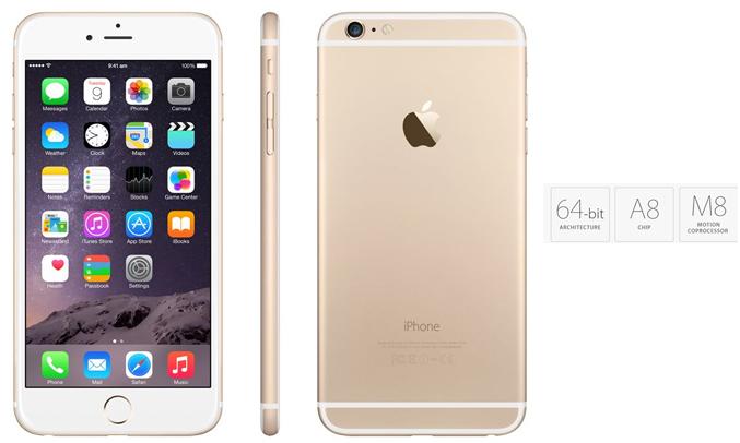 iPhone 6 sử dụng chip Apple A8 hoạt động với 2 nhân tốc độ 1.4GHz