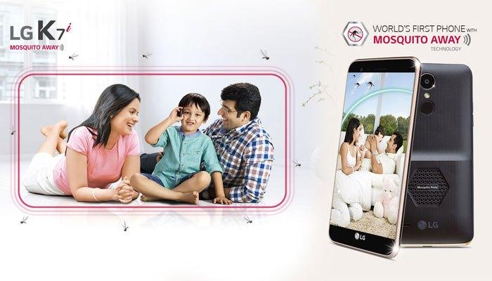 Công nghệ đuổi muỗi lần đầu xuất hiện trên chiếc điện thoại LG K7i