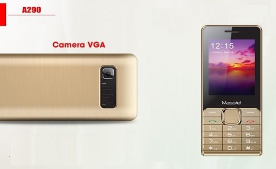 Điện thoại Masstel A290 màu vàng được trang bị bộ đôi camera